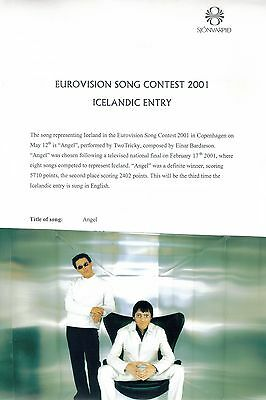 """Eurovision Song Contest 2001 Iceland Too Tricky """"Angel"""" Presskit"""