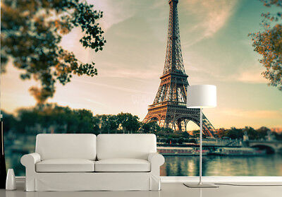 143x100inch giant size wallpaper for bedroom walls Paris Eiffel Tower FAULTY