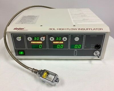 Stryker Endoscopy 30L High Flow Insufflator Lab Unit