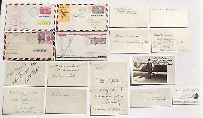 Collection of Autographs Early Air Mail & Airline Pilots Golden Age Of Aviation