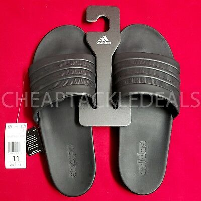 big sale f0a26 3cc3a ADIDAS Mens Adilette CF+ CLOUDFOAM PLUS Mono Slides Sandals Slippers BLACK  11