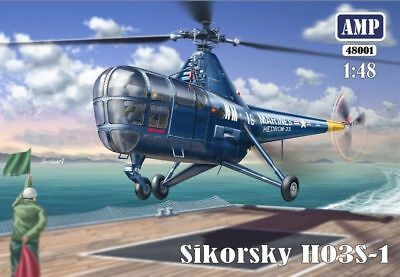 1:48 AMP #48001 - Sikorsky HO3S-1 Helicopter - with PE parts, film, masks