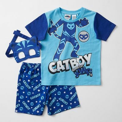 NEW PJ Masks Catboy Pyjama Set With Mask Kids
