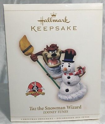 QX6133 HALLMARK KEEPSAKE, 'TAZ the Snowman Wizard', Looney Tunes 2006