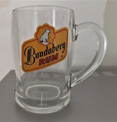 Bundaberg Rum  Vintage Glass  Mug Beer Stein Rare Made In France