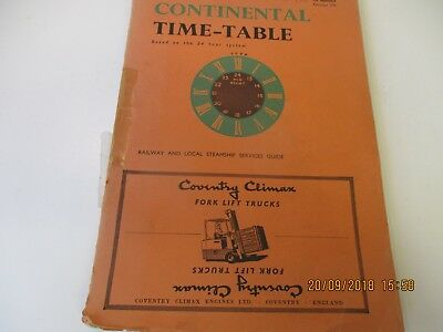 Cooks 1956 Continental Time-Table