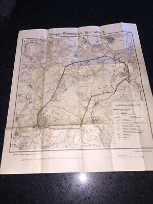 German Army 1914 Trainings Ground Map /Truppenübungsplatz Hammelburg 🇩🇪