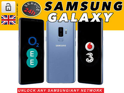 24 Hours UNLOCKING CODE SERVICE FOR SAMSUNG S9 S9+ S8 S7 S6 Edge EE O2 Vodafone