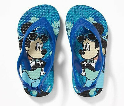 b64383b91b05 Disney Jr. Old Navy Toddler Boys MICKEY MOUSE Sandals Flip Flops Size 5 6 ~