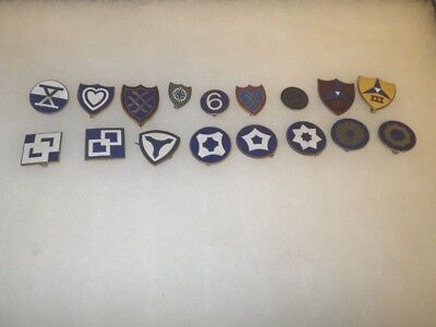 Original WWII US Army Corps - Service Command Patch DI Set - 17 Items