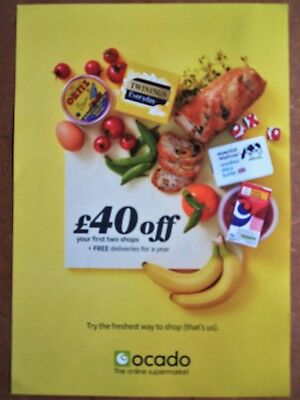 **Ocado Voucher £40 Off + Deliveries for 1 Year - Order by 28/10/2018**