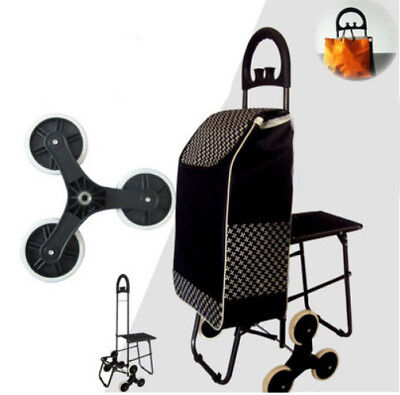 D195 Rugged Aluminium Luggage Trolley Hand Truck Folding Foldable Shopping Cart