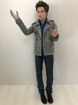 "Twilight Edward Cullen 7"" Figure- Grey Coat  CREST - Neca Reel Toys Vampire 2008"
