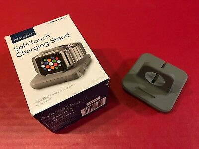 Insignia Soft-Touch Charger Charging Stand for Apple Watch - Gray - NS-AWCSGY