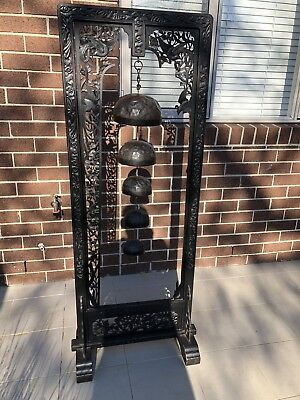 Asian Temple Bells On Stand
