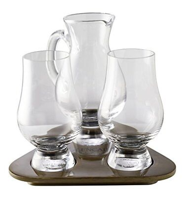 Stlzle The Glencairn Whisky Glass Tasting Set of 2 Glasses Wooden Tray and Wate