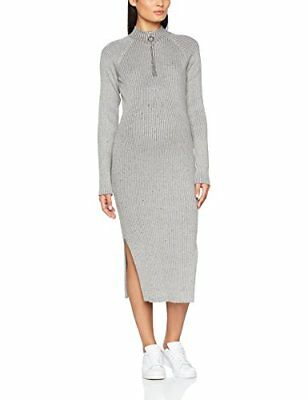 SUPERMOM Womens Ls Knit Tube S0512 Maternity Dress, Medium Grey, 10 Size of Ma