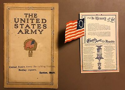 1913 Official War Department The US Army as a Career ~ WWI Recruitment Booklet