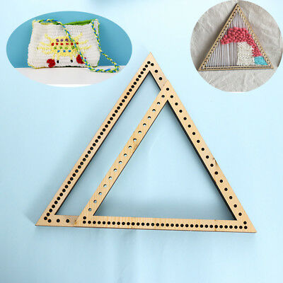 Fashion DIY Woven Tools Craft Handmade knitting triangle  weaving loom wooden