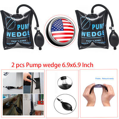 2x Car Air Pump Wedge Inflatable Bag Shim Entry Repair toosl Window Door Opener