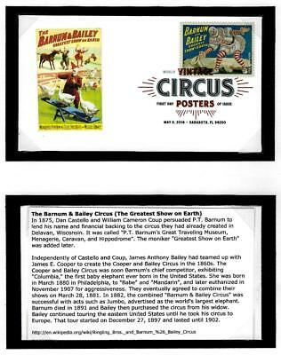1¢ Wonder's ~ Fancy Cancel First Day Cover W/ Vintage Circus Posters ~ D771