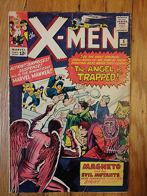 X-Men #5 1964 Classic Cover. 2nd Quicksilver & Scarlet Witch. Marvel Silver Age