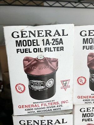 New General Filter Model 1A-25A Fuel Oil Filter Cast Iron Free Shipping