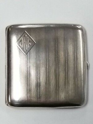 Antique Sterling Silver Cigarette Vesta Case 106.3 Grams