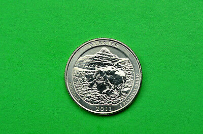 2011-P  BU  Mint State  (Glacier) US National Park Quarter