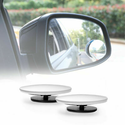 Pair Blind Spot Mirrors Wide Angle Adjustable Rimless Mirror HD Glass Rear View