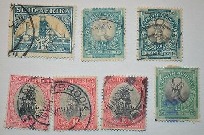Very Rare Antique/Vintage Lot Of 7 South African Stamps Early 1900's No Reserve