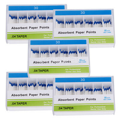 5 X Dental Absorbent Paper Points #30 Taper .04 Endodontic Root Canal Cleaning