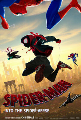 Spiderman: Into The Spider-Verse  D/s 27 X 40    New Authentic Studio Poster