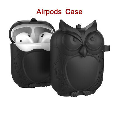 Chic Unique Owl Shape Silica Gel Earphone Protective Case Cover For Apple AirPod