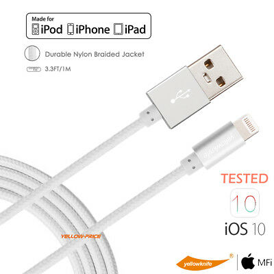 Lightning to USB Data Sync Cable [MFi Certified] For iPhone Xs/XR/X/8/7 - 1M -AU