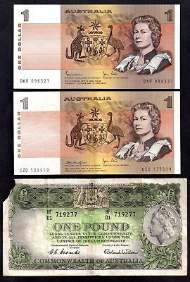 2 X 1$ Notes  And 1 Pound Note