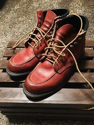 97fd87563ff VTG RED WING #204 Red Brown Leather Moc Supersole Boots Work Outdoor Field  9 D