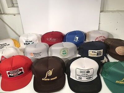 Lot Of 28 Farming/seed Snapback Vintage Trucker Hats