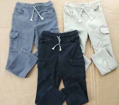 3 Pair of JUMPING BEANS Cargo Pants Little Boys size 5 Navy Khaki KIDS CLOTHING