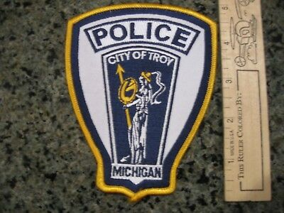 Troy Michigan Police patch NICE MI