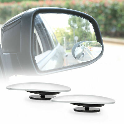 2x Water Drop Type Blind Spot Mirrors Wide Angle Side Rearview Adjustable