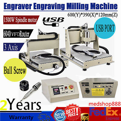 USB CNC Router Engraver Engraving Cutter 3 Axis 6040 3D Crafts Carving Ballscrew