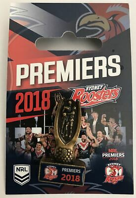 Sydney Roosters NRL Premiers 2018 Trophy Lapel Pin