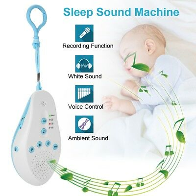 Baby Sleep Soothers Sound Machine Timing Music White Noise Record Voice Sensor