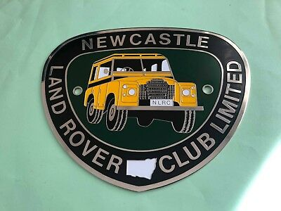 Vintage Newcastle Land rover club badge