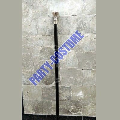 Classic Style Wooden Walking Stick Cane Nickle Finish