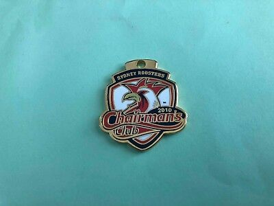 Vintage 2010 Sydney Roosters Chairman's Club NRL badge