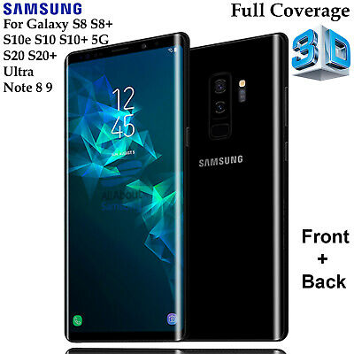 Full Tempered Glass & 4H Screen Protector Samsung Galaxy S8 Note 8 9 S10e Plus