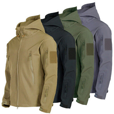 Mens Waterproof Jacket Military Jackets Tactical Winter Coat Soft Shell Outdoor