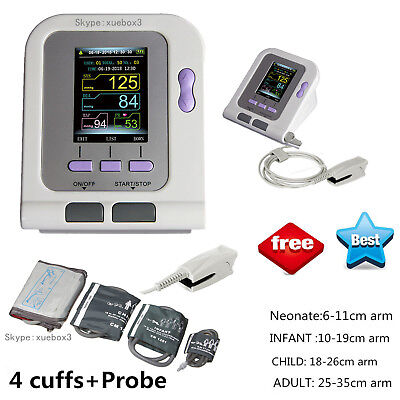 US Seller,Digital Blood Pressure Monitor SPO2 Infant Adult NIBP Monitor Software